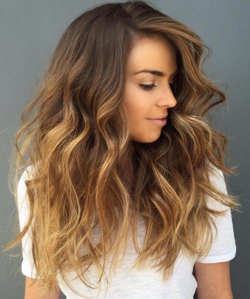 Blonde Balayage hairstyle for girl