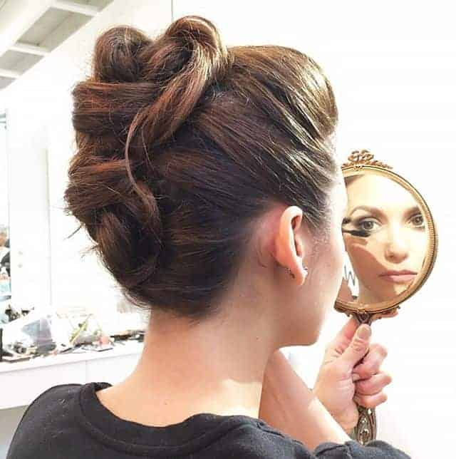 Updo Women With Long Hairstyle