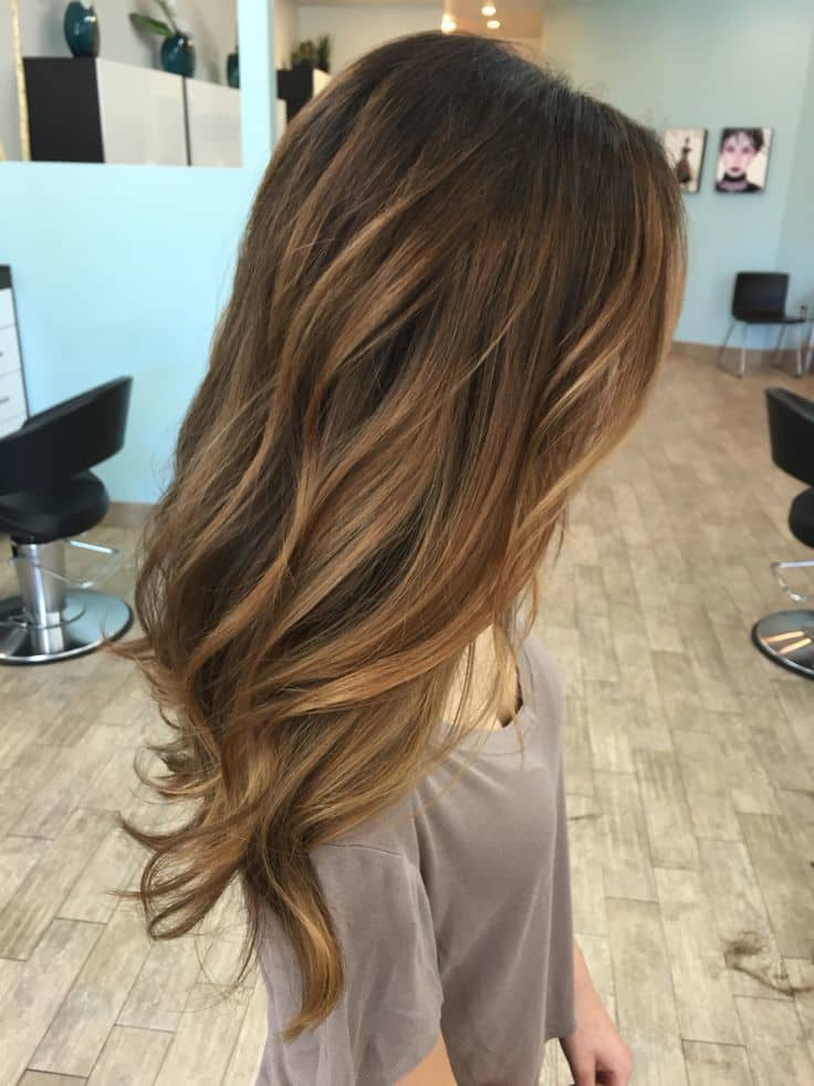 Light Brown Balayage hair color for girl