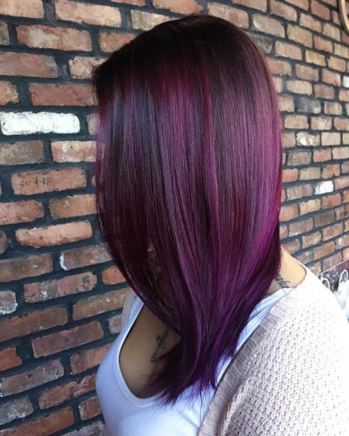 20 Blissful Plum Hair Ideas That Take You Way Past Purple