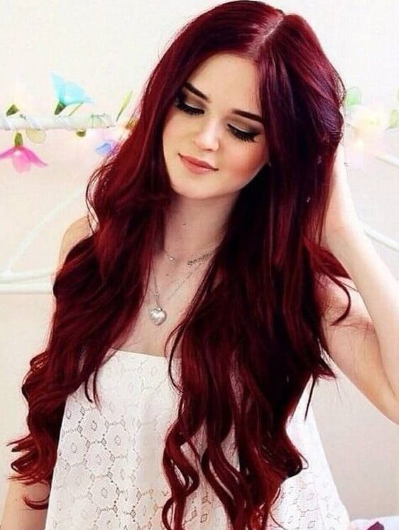 Beautiful Women Red Hairstyles And Green Eyes