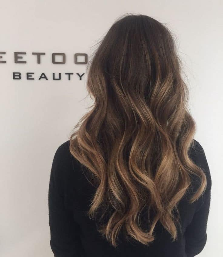 balayage brown hair