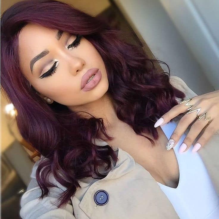 20 Blissful Plum Hair Ideas That Take You Way Past Purple