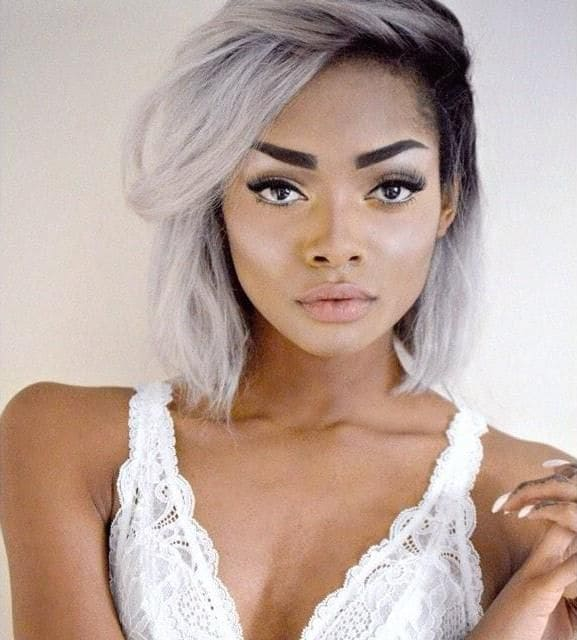 White Hair Ideas for Dark Skin: 5 Beautiful Blends