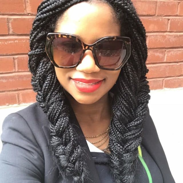 women African Fishtail box braids hairstyle