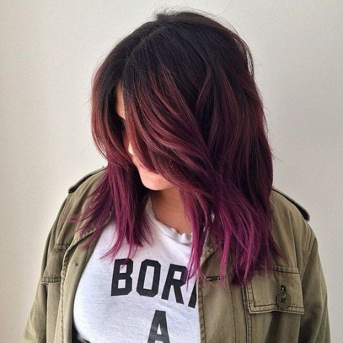 10 Times Purple Balayage Took Our Breath Away Hairstylecamp