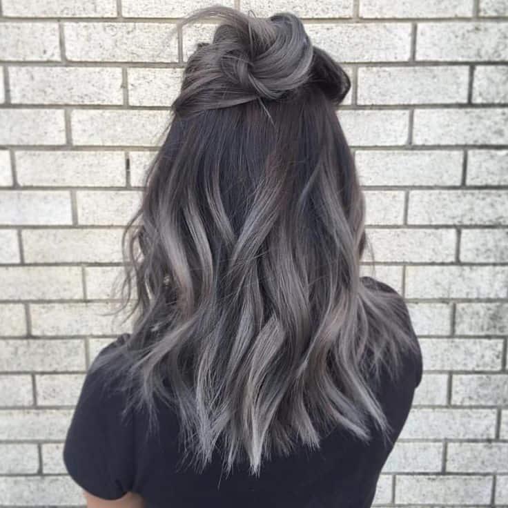 Black low light Salt and Pepper Hair