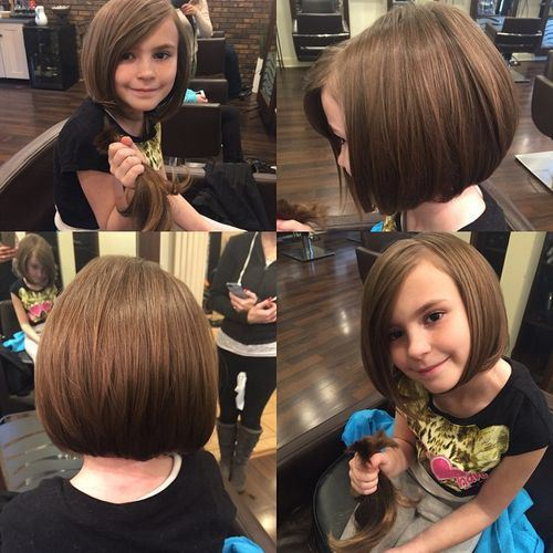 #1: Straight Blunt Haircut for Little Girls