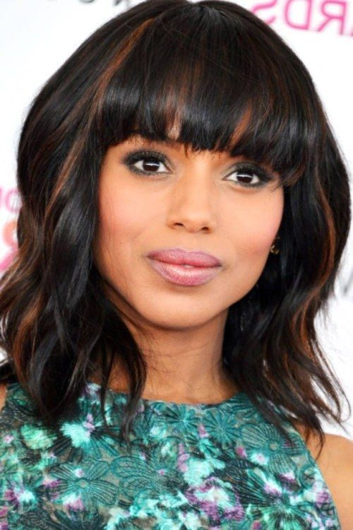 The Wavy Weave black layered haircut