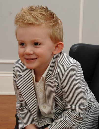 Blonde Wavy Hairstyle for little boys