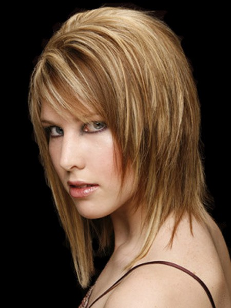 70 artistic medium length layered hairstyles to try 1 highlights and lowlights highlights and lowlights layered hairstyle voltagebd Choice Image