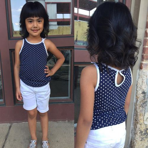 6 Little Girls Curly Layered Bob Haircut