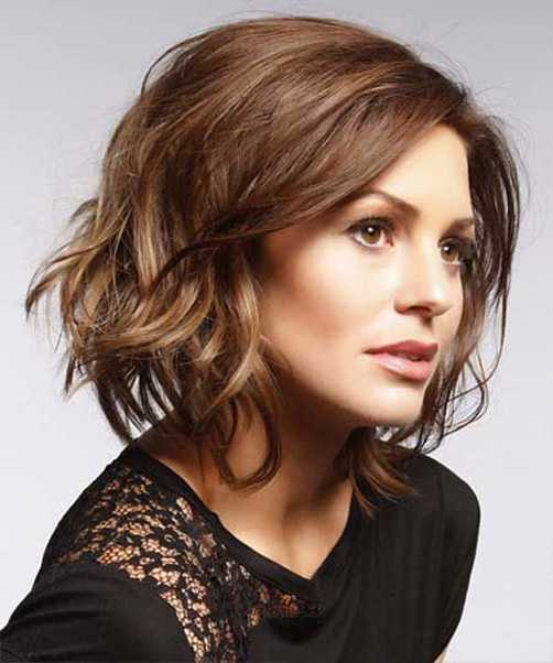 Short Bob Hairstyle With Cool Light Waves