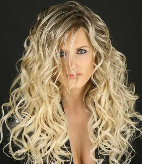 7 Stylish Wavy Long Perm Hairstyle