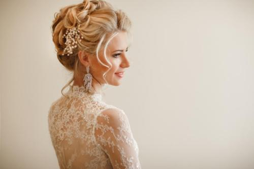 Lovely Bride Hairstyle for Marriage