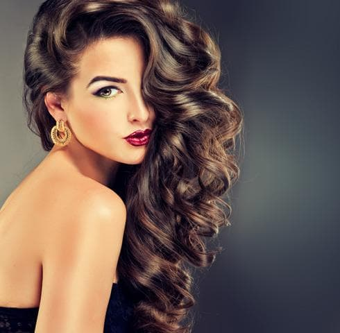 Party hairstyles for long curly hair