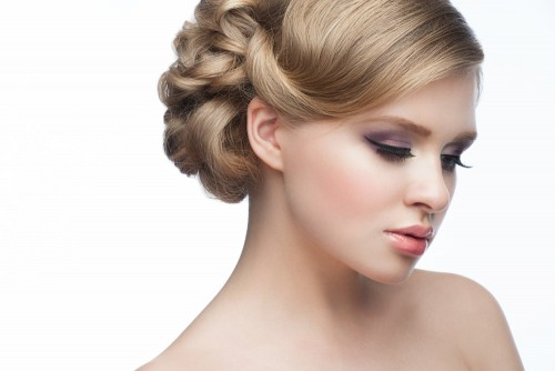 Wedding Hairstyle with Makeup-min
