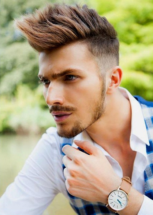 coolest faux hawk hairstyle for men#9
