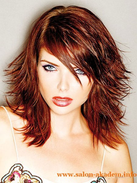 Wet Look red hair hairstyles