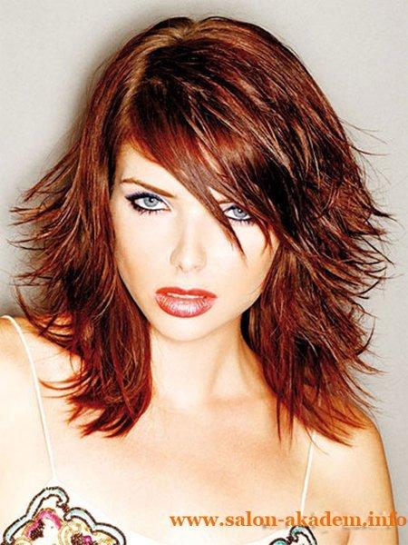 Wet Look red hair hairstyles