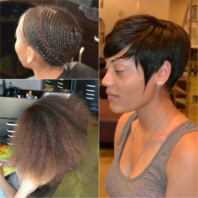 The Pixie Cut Sew In Hairstyle