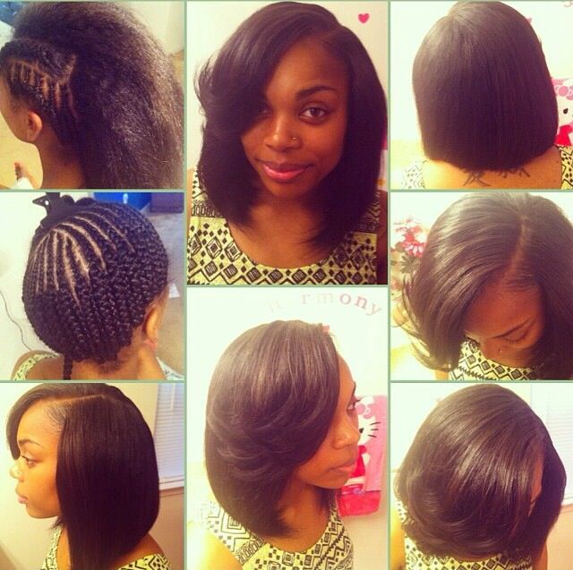 Shoulder Length Weave Sew In Hairstyle
