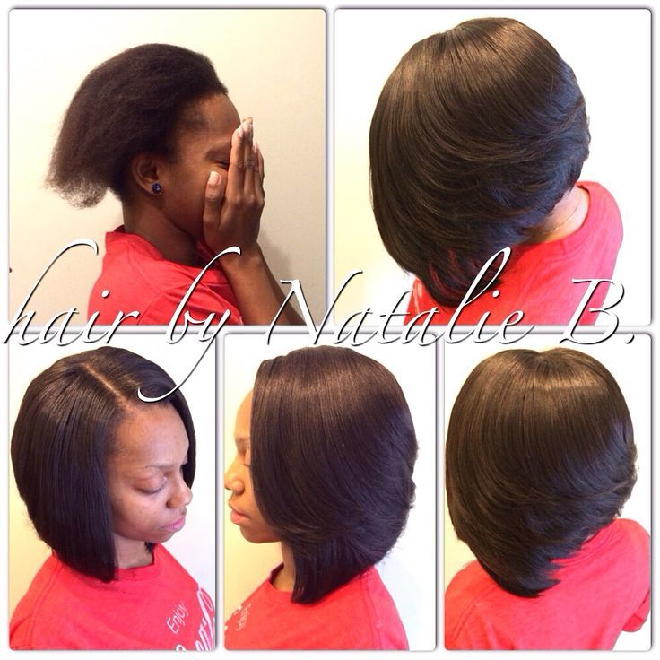 Chicest SewIn Hairstyles For Black Women - Bob hairstyle sew in