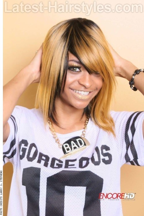 Rebel Look with Two Colors back to school hairstyle