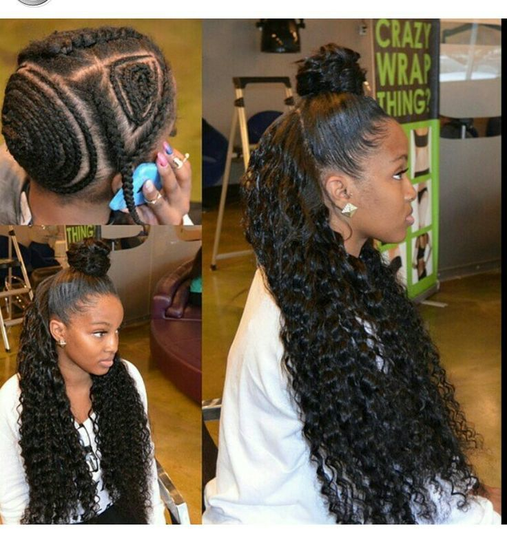 half up half down black hairstyles : 40 Chic Sew-In Hairstyles for Black Women