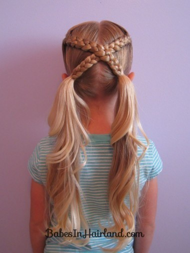 Crossover Braid back to school haircut for little girls