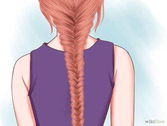 Fishtail Braid back to school hairstyle for little girls