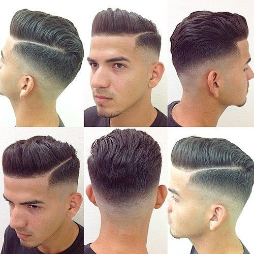 43 A Short Side Parted Pompadour
