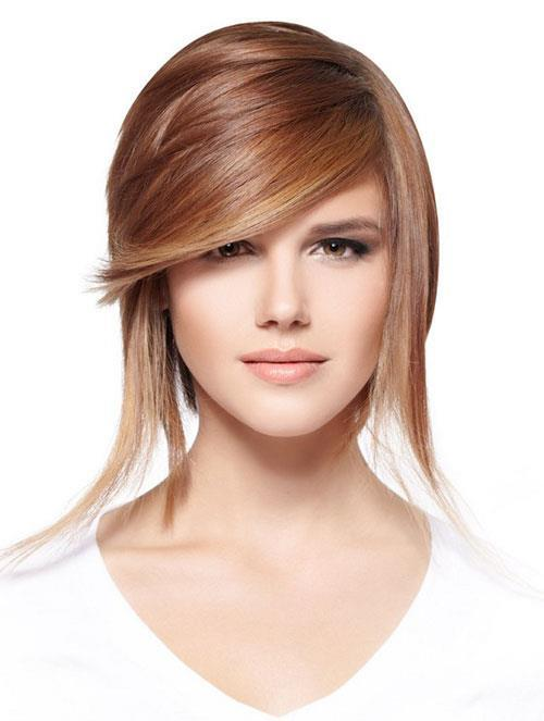 Heavy Side Fringe hair style you like