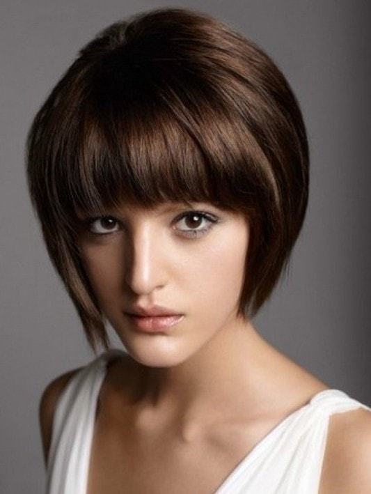 Short Bob Haircut With Bangs for teenagers