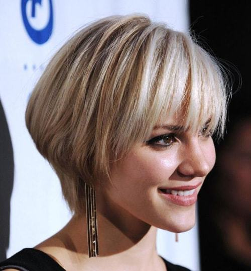 Short Bob Haircut With Bangs perfect for girls