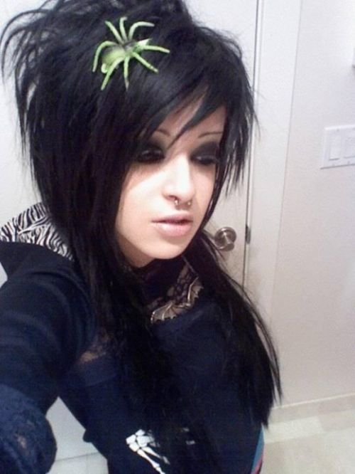 teen emo haircut for girls and women