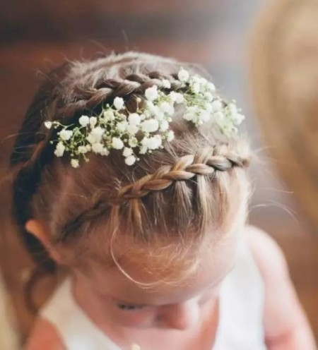 Magnificent 25 Cutest Flower Girl Hairstyles For Dreamy Look Short Hairstyles For Black Women Fulllsitofus