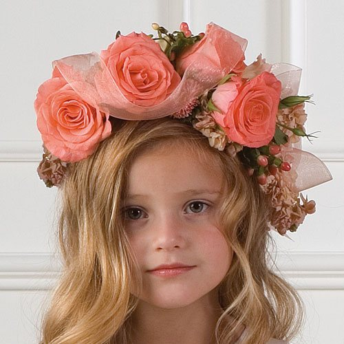 flower girl sweet hairstyle