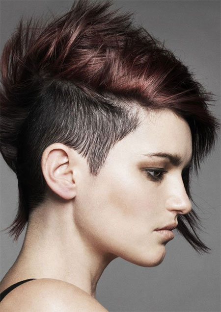 Female Half Shaved Head Hairstyle