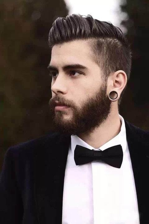 Hipster with beard Haircut for Men