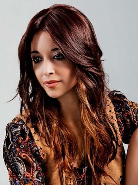 dark hair color cute girl