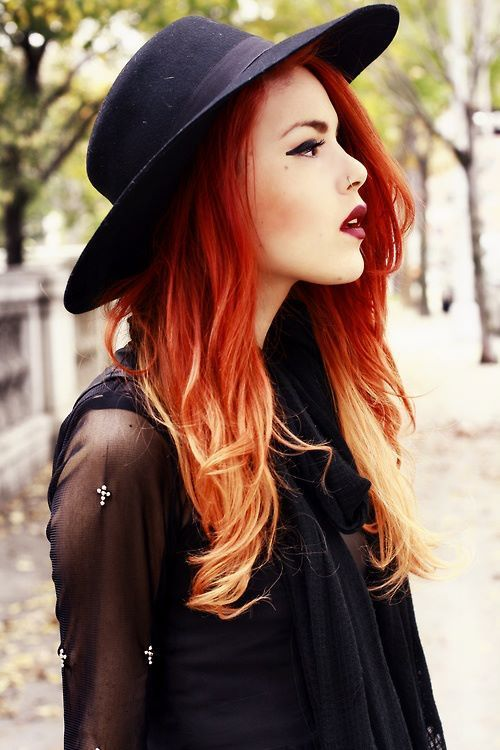 copper hair color for girl