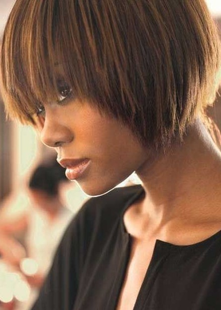 black girl with Textured bob haircut