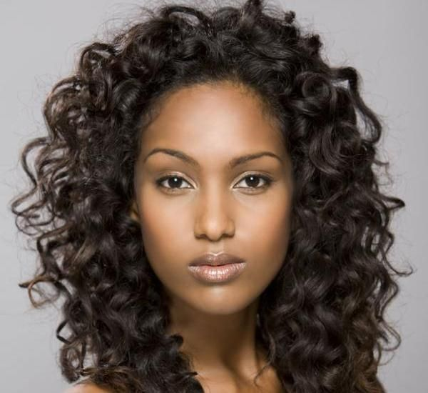 curly short hairstyle for black girl