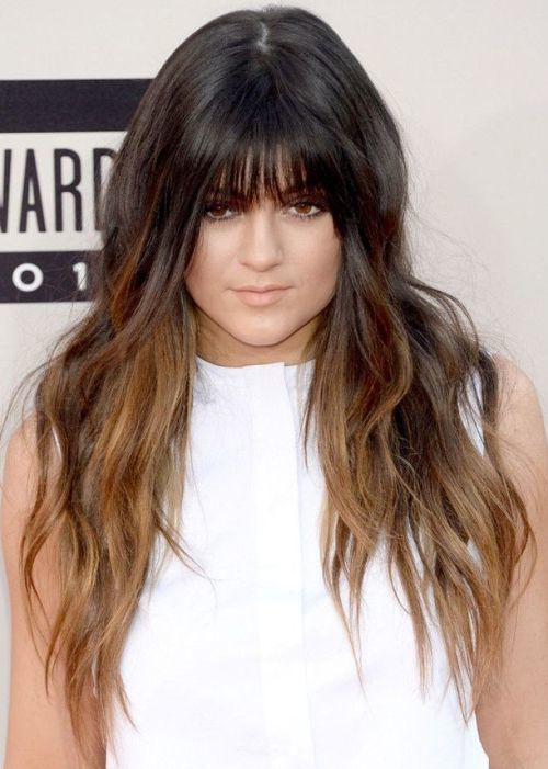 Ombre Hair Color Ideas with bangs 2