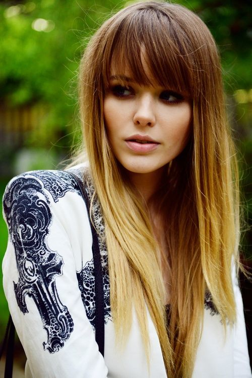Straight Beautiful Ombre Hair Color For Cute Girl