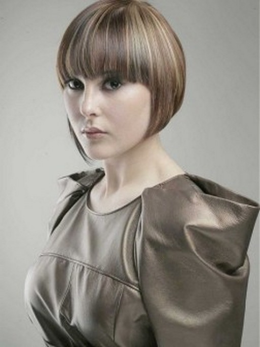 Bob with Symmetrical Bangs short hairstyle for girls