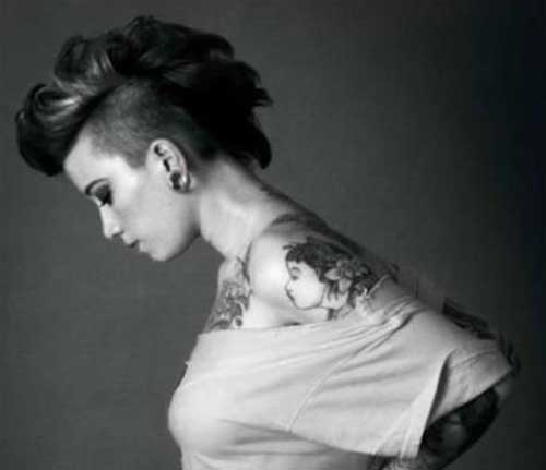 70 Brilliant Half Shaved Head Hairstyles For Young Girls 2020