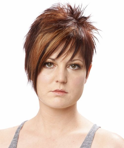 short haircuts for girls with round faces and thick hair