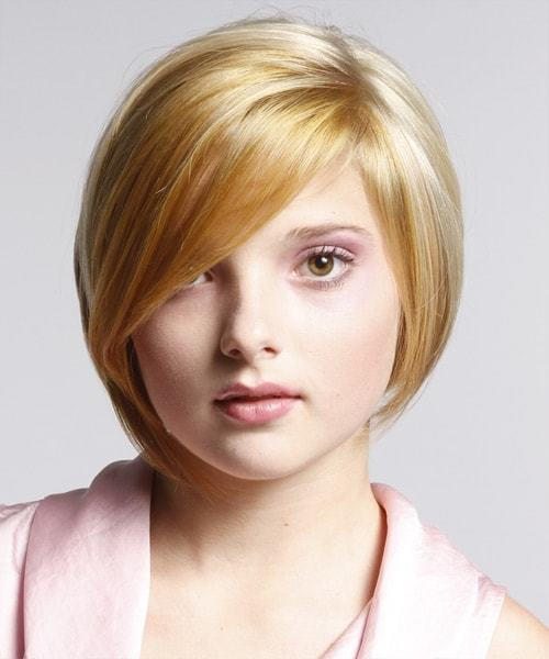 Short Blonde Hairstyles For Round Face 2016